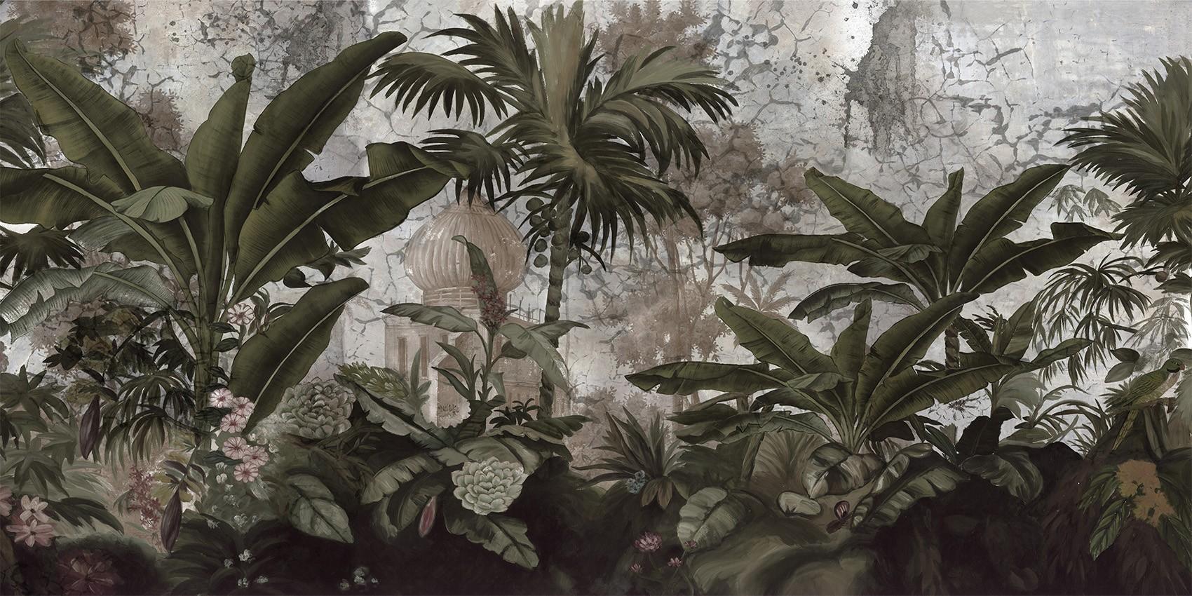 Papier Peint Panoramique Voyage A Cochin Grisaille Patine Xviiieme