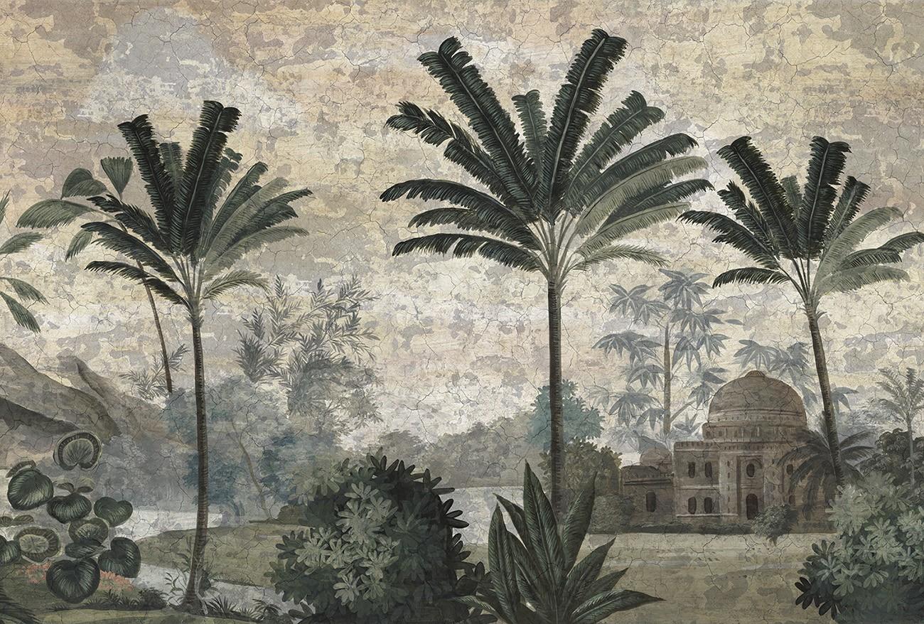 Papier Peint Panoramique Ananbo Pushkar Grisaille Patine Xviiieme