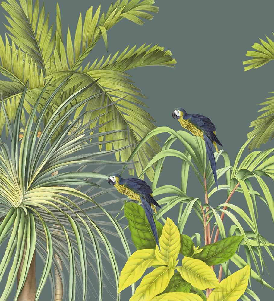 Papier Peint Avec Perroquet papier peint panoramique ananbô koh chang fond bleu