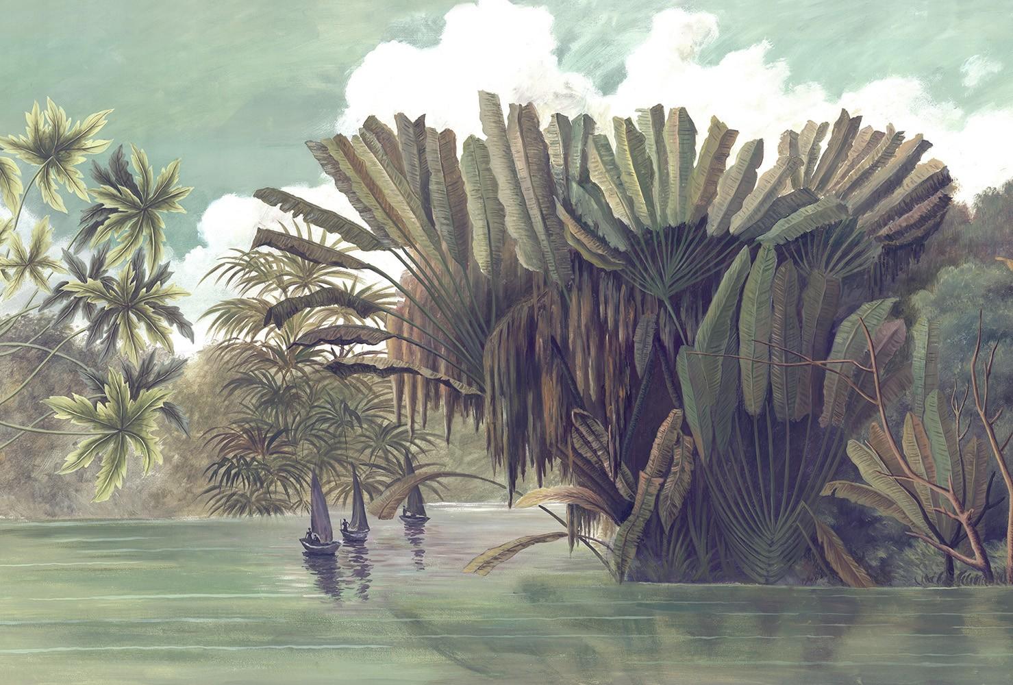 Papier Peint Panoramique Les Pecheurs De L Okavango Couleur