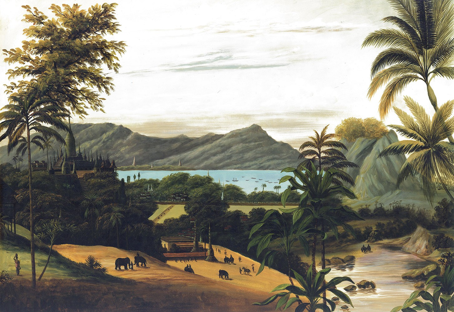 Papier peint panoramique Paysage birman couleur