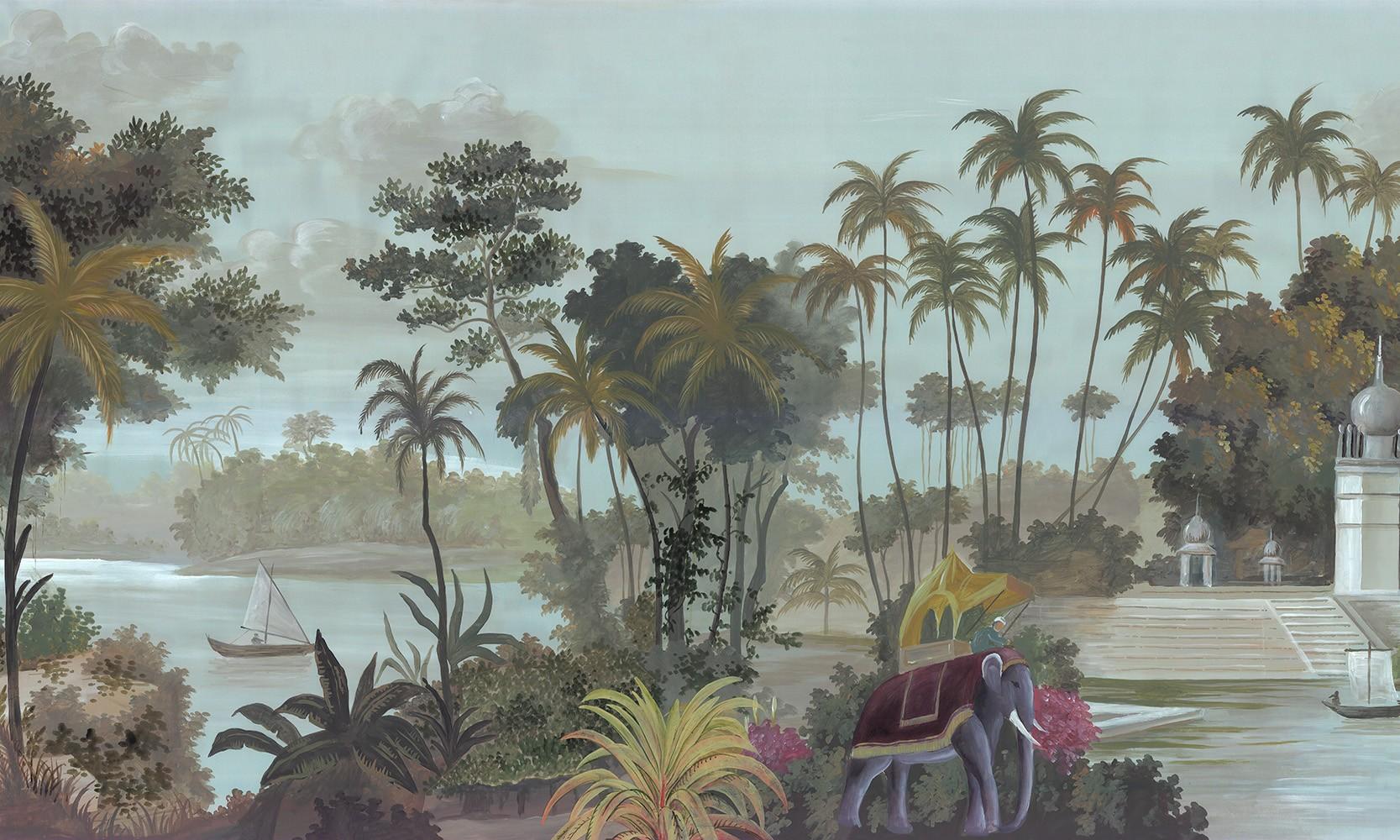 Papier Peint Panoramique Paysage papier peint panoramique pondichery couleur